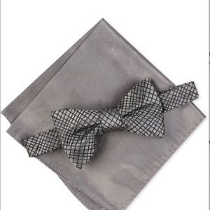 Men's Hudson Abstract Bow Tie & Pocket Square Set,